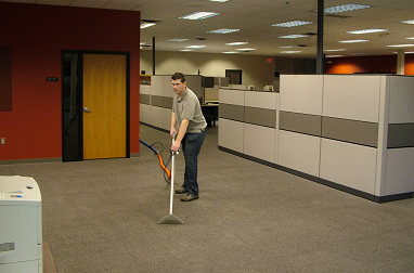carpet cleaning in office